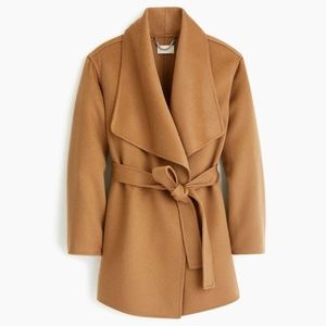 NWT. Collection double-faced cashmere wrap coat